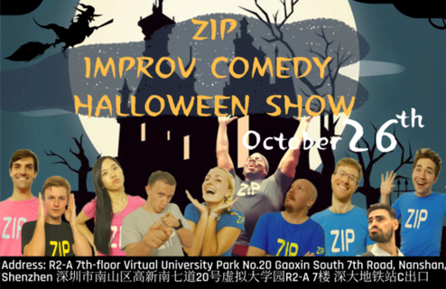 ZIP IMPROV COMEDY HALLOWEEN SHOW ON 26TH OCTOBER