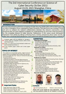 The International Conference on Science of Cyber Security - SciSec 2021